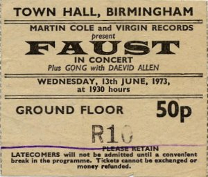 UK Tour 1973 - Birmingham, with Gong and Daevid Allen