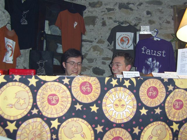 JohnO and Torsten on the stall